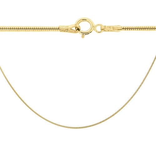9K Yellow Gold Snake Chain (Size 16), Gold wt 4.00 Gms