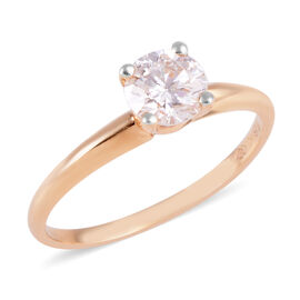 SIGNATURE COLLECTION 18K Yellow Gold SGL CERTIFIED Diamond (Rnd) (I1/ G-H) Solitaire Ring 1.000 Ct.