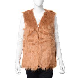 Brown Colour Faux Fur Gilet  (One Size Fits all)