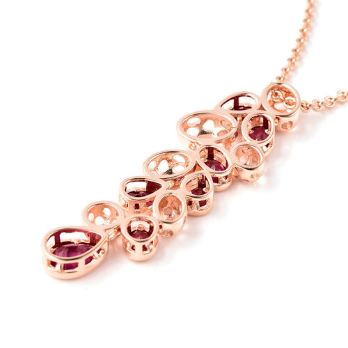 RACHEL GALLEY Misto Collection - African Ruby Pendant With Chain (Size 20) in Rose Gold Overlay Sterling Silver