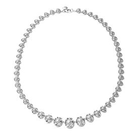 Rachel Galley Art Deco Collection - Rhodium Overlay Sterling Silver Necklace (Size 20), Silver wt 39