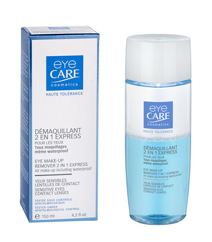 Eyecare Cosmetics- High tolerance macara brown, eyeliner pencil brown, 2 in 1 express eye makeup remover
