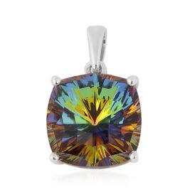 J Francis Crystal from Swarovski Vitrail Medium Crystal Pendant in Platinum Overlay Sterling Silver