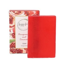 Handmade Soap- Pomegranate & Tamarind with Neem, Aloe Vera & Turmeric, 125Gm.