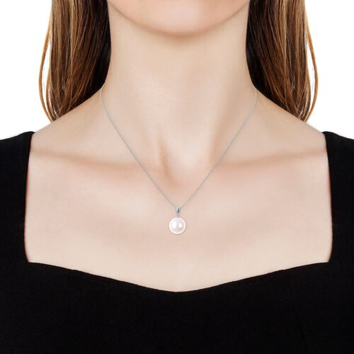 Edison Pearl Sterling Silver Pendant With Chain (Size 18)