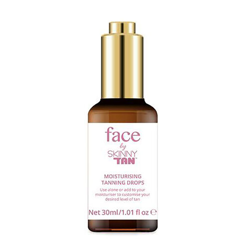 Skinny Tan Face: Tanning Drops- 30 ml, Overnight Mask- 50 ml & Gradual Tan- 50 ml SPF6 Light featuring Aloe Vera and Guarana
