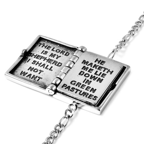 Holy Bible Bracelet (Size 7 with 1.5 Extender) in Stainless Steel