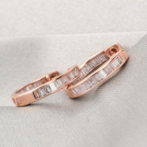9K Rose Gold SGL Certified Natural Pink Diamond  Hoop Earrings (with Clasp) 0.50 ct.