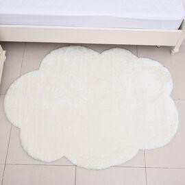 Cloud Shaped Faux Fur Rug (Size 118x165 Cm) - White