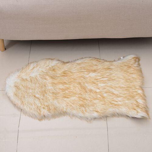 Faux Sheep Skin Rug (Size 100x60 Cm)