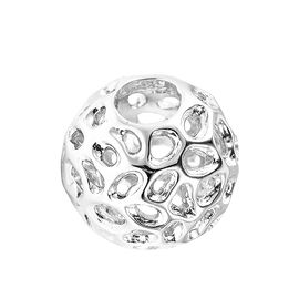 RACHEL GALLEY Rhodium Overlay Sterling Silver Globe Charm or Pendant