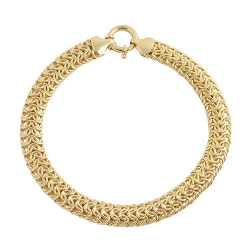 8 Inch Vicenza Collection Chain Bracelet in 9K Gold