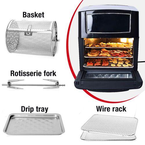 18 in 1 Multi Functional Digital 12 Litre Air Fryer Oven with Detachable Transparent Door (Size 31x28x35 Cm)