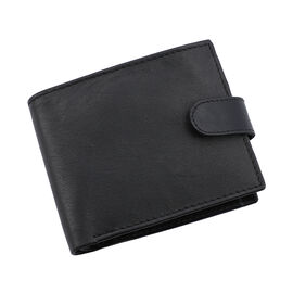 Close Out Deal- 100% Genuine Leather RFID Protected Wallet with Flap Coin Pocket (Size 22.86x1.27x10