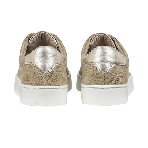 Lotus Stressless Leather Amsterdam Lace-Up Trainers (Size 3) - Natural and Pink