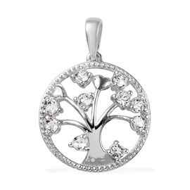 J Francis White Crystal  from Swarovski Tree of Life Pendant in Sterling Silver