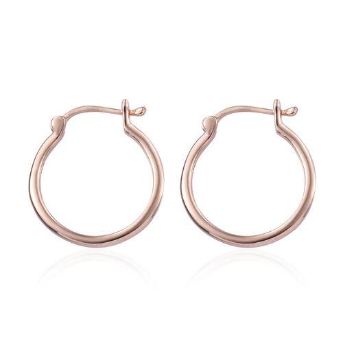 9K Rose Gold Hoop Earrings (with Clasp Lock)