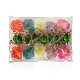 Plumeria Floating Candles (Size 4.5x4.5x2.5 Cm) - Pink, Yellow, Purple, Blue and Red Colour