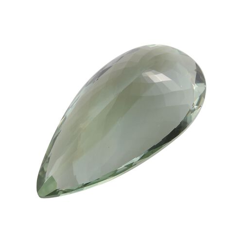 AAA Prasiolite Pear 32x16 Faceted 27.55 Cts