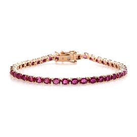 9K Yellow Gold AA African Ruby (Ovl) Bracelet (Size 7) 9.50 Ct, Gold wt 7.92 Gms