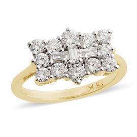 ILIANA 18K Yellow Gold IGI Certified Diamond (Rnd) (SI/G-H) Ring 1.000 Ct.