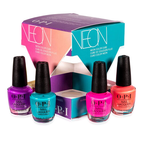 OPI: Mini Nail Polish Cube - Neon Collection (4 Piece Set - 3.75ML each)