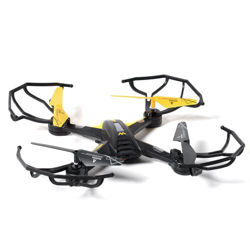 Yellow and Black Colour 4 Channel Quadcopter with Remote Control (Size 27x27x9 Cm)