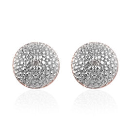 Diamond Stud Earrings (with Push Back) in Rose Gold Overlay Sterling Silver