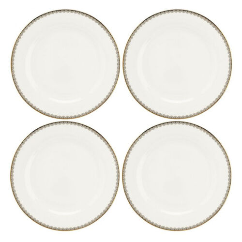 Set of 4 - Royal Worcester Blue Lily Dinner Plates 27cm