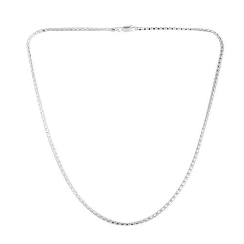 JCK Vegas Collection Sterling Silver Mirror Popcorn Chain (Size 20), Silver wt 5.50 Gms.