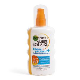 Garnier: Ambre Solaire Clear Protect Sun Cream Spray SPF50 - 200ml