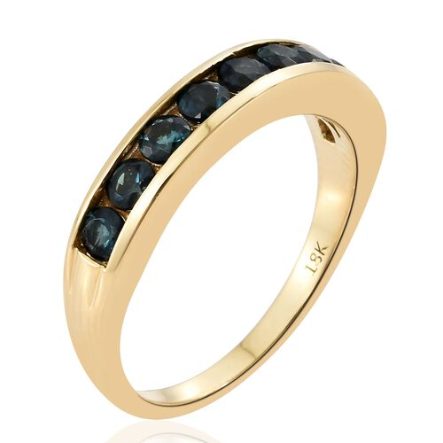 ILIANA- 18K Yellow Gold - Minas Gerais Blue Tourmaline Ring 1.000  Ct.