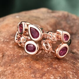 RACHEL GALLEY Misto Collection - African Ruby Ring in Rose Gold Overlay Sterling Silver 2.47 Ct.