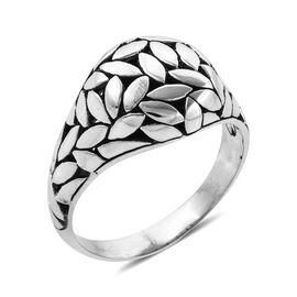 Bali Legacy Collection Sterling Silver Flower Petals Dome Ring