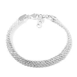 Sterling Silver Mesh Bracelet (Size 8.5 with Extender), Sliver Wt. 10.32 Gms
