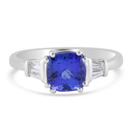 RHAPSODY 950 Platinum AAAA Tanzanite and Diamond (VS-EF) Ring 2.00 Ct.