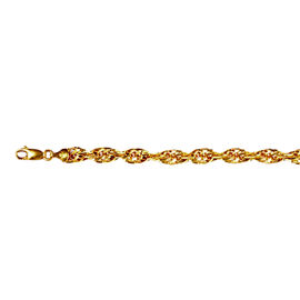 JCK Vegas Collection - 9K Yellow Gold Prince of Wales Chain (Size 20), Gold wt 13.50 Gms