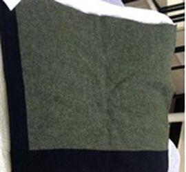 Kris Ana Coloured Border Cardigan One Size - Khaki/Black