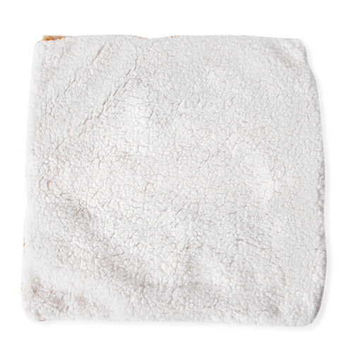 2 Piece Set - Faux Fur Printed and Brushed Cushion Covers (Size 45x45 Cm)