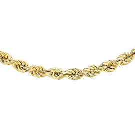 9K Yellow Gold Rope Necklace (Size 20), Gold wt 5.10 Gms