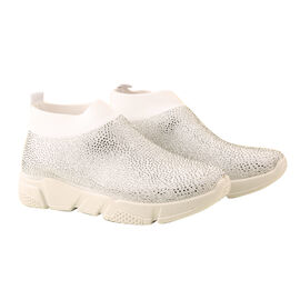 White Fashionable Ladies Trainers
