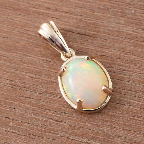 9K Y Gold AA Ethiopian Welo Opal (Ovl) Solitaire Pendant 1.750 Ct.