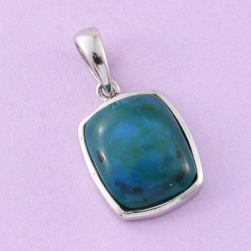 Natural Rare Opalina (Cush) Solitaire Pendant in Platinum Overlay Sterling Silver 3.500 Ct.