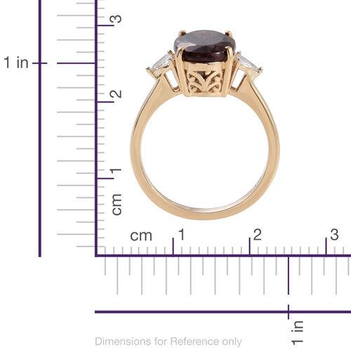 ILIANA 18K Y Gold AAA Change Colour Garnet (Ovl 5.75 Ct), Diamond Ring 6.000 Ct.