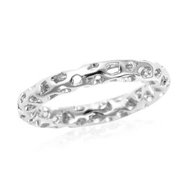 RACHEL GALLEY Allegro Band Ring in Rhodium Plated Sterling Silver