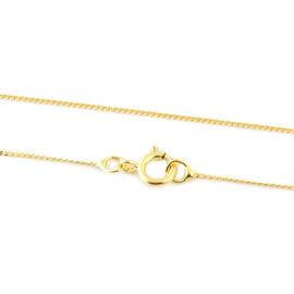Close Out Deal Diamond Cut Curb Chain in 9K Yellow Gold 18 Inch