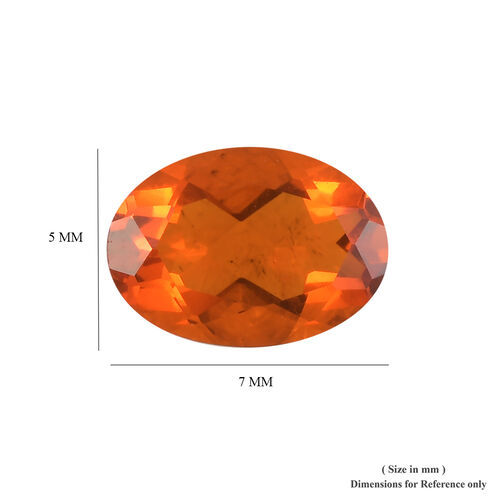 AAA Fire Opal Oval 7.11x5.11x3.36 Faceted 0.48 Cts