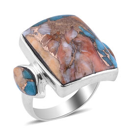 Santa Fe Collection - Spiny Turquoise Ring in Sterling Silver 5.000 Ct.