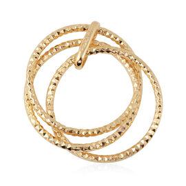 JCK Vegas Triple Circle Pendant in 9K Gold 1.30 Grams