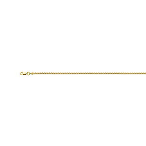 Italian Made - Yellow Gold Overlay Sterling Silver Box Chain (Size 20).Silver Wt 4.00 Gm